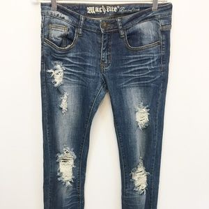 "Machine ""Pour Nouvelle Mode"" Distressed Jeans"